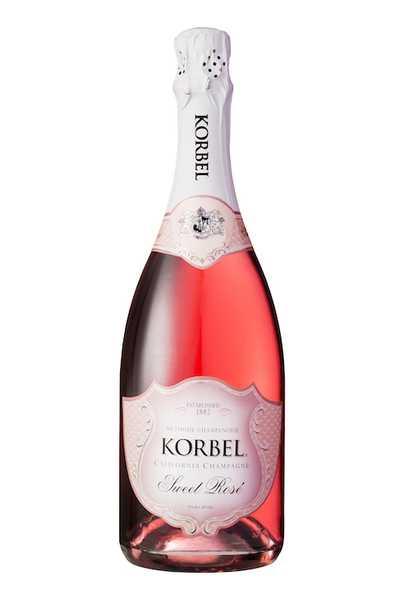 Korbel-Sweet-Rosé-California-Champagne