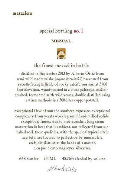 Mezcalero-Special-Bottling-No.1